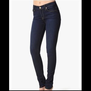 7 for all Mnkind Roxanne mid rise skinny jeans